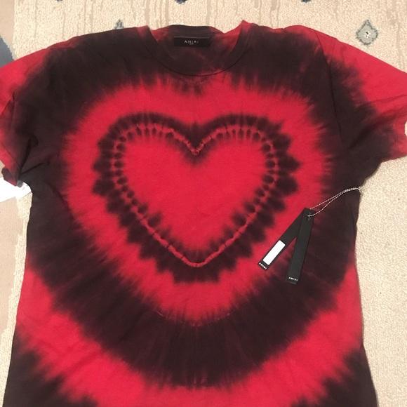 90800864 amiri Shirts   Heart Tye Die T Shirt Mens Size Large   Poshmark